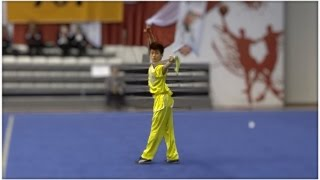 5th World Junior Wushu Championships Group B Boys Daoshu CHN YANG Xian Feng 9.15