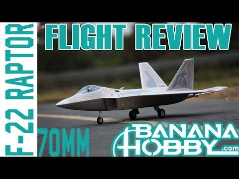 F-22 Raptor RTF Scale Electric RC JET Flight Review! www.bananahobby.com!