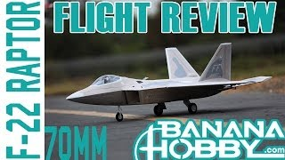 F-22 Raptor 70mm BlitzRCWorks | Flight Review | EDF Fighter Jet