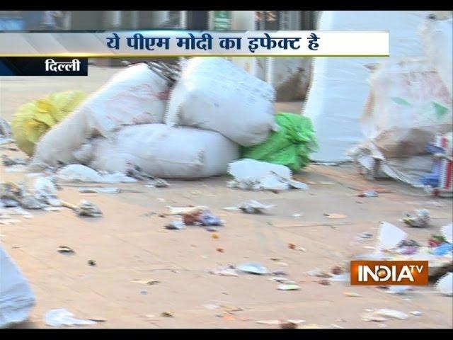 No ' Swachh Bharat' effect in Palika Bazar after Diwali celebration