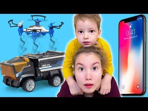 Богдан хочет iPhone X Света не убирается Детки открывают подарок Сборник
