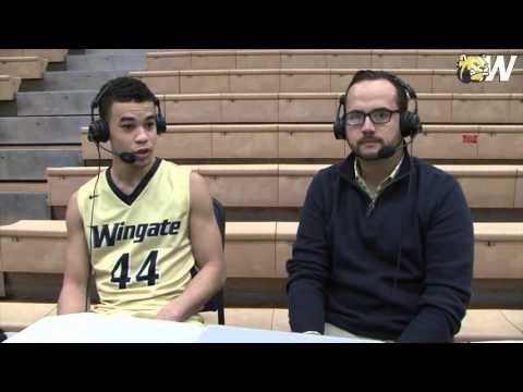 2015-16 Wingate Men's Basketball - Newberry postgame interview with Zeriq Lolar (12/8/2015)