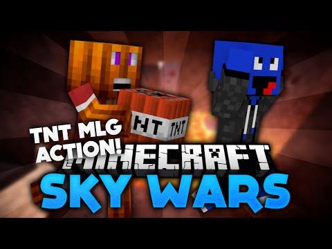 TnT MLG Action! - Minecraft Sky Wars! | DieBuddiesZocken