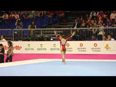Caterina BARLOGGIO SUI, Floor Senior Qualification, European Gymnastics Championships 2012