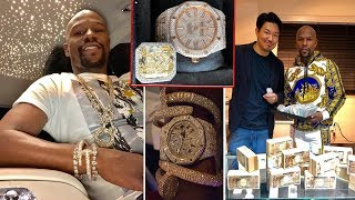 Floyd Mayweather Showed Jewelry Very interesting In 2019