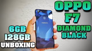 Oppo F7 Unboxing Diamond Cut Black Edition 6gb/128gb
