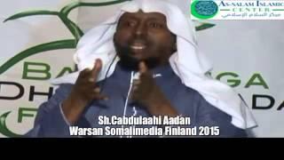Usamafalka Waalidka Sh Cabdulaahi Aadan 2015