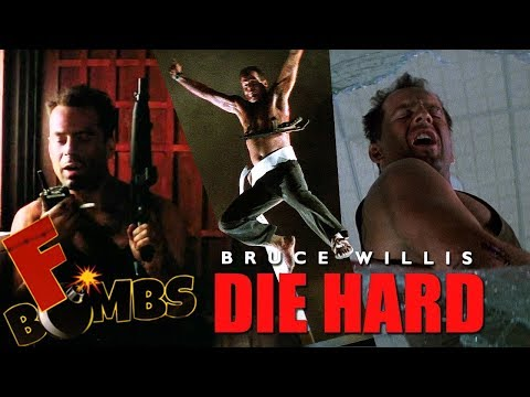 DIE HARD - F-Bombs (1988) Bruce Willis, John McTiernan, Alan Rickman Classic Action Movie