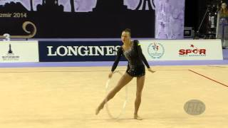 RIZATDINOVA Ganna (UKR) - 2014 Rhythmic Worlds, Izmir (TUR) - Qualifications Hoop