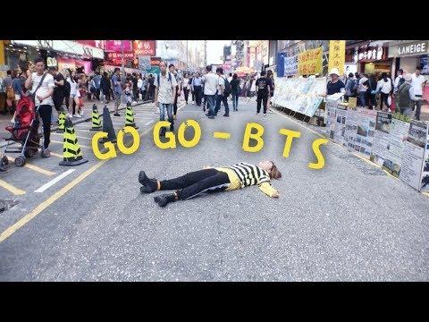 BTS (방탄소년단) - GO GO IN HEELS PUBLIC DANCE CHALLENGE 暴斃旺角街頭 edition