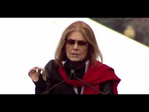 Gloria Steinem RIPS Mentally Unstable Donald Trump Women's March Washington Dc FULL Speech 1/21/17