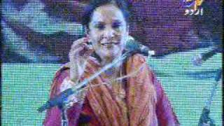 TINA SANI OF PAKISTAN SINGING FAIZ DECCANI GHAZAL IN INDIA