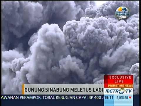 Inilah Video Eksklusif Letusan Gunung Sinabung