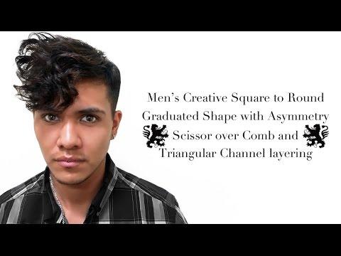 Men layer haircut