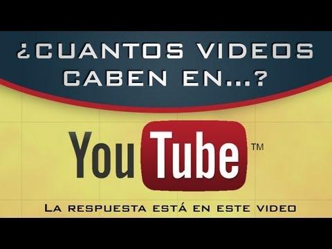 ¿Cuántos videos caben en YouTube?