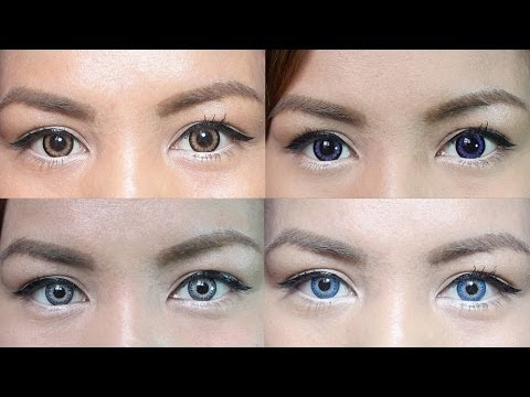 Color Contact Lens Guide And Review For Dark Eyes Youtube