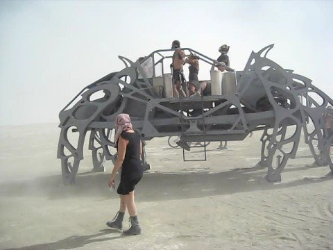 Burning Man 2008 - Giant Walking Spider Machine