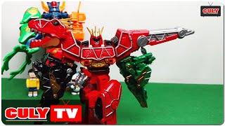 Robot siêu nhân chiến đội điện long khủng long đồ chơi trẻ em - dinosaur robot kid toy for childrens