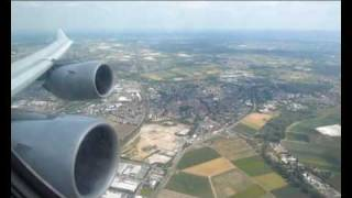 LH464: Lufthansa Airbus A340-600 (D-AIHD) - Heavy takeoff from Frankfurt