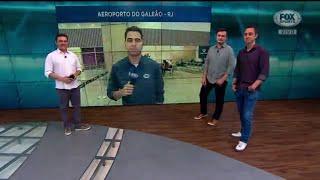 VEJA A FESTA DA TORCIDA DO FLA  PARA A CHEGADA DE ARRASCAETA!