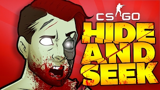 CS:GO Hide and Seek Funny Moments: Worst Seeker Ever, BRIAN LOVES BRAINS & Falling Nanners