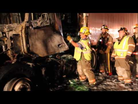 Truck fire shuts Route 222