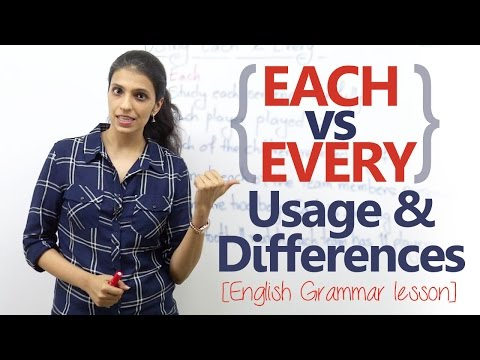 Each vs Every - Usage and differences - English Grammar lesson