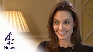 Angelina Jolie on Unbroken, directing Brad Pitt & the mansion tax   Channel 4 News