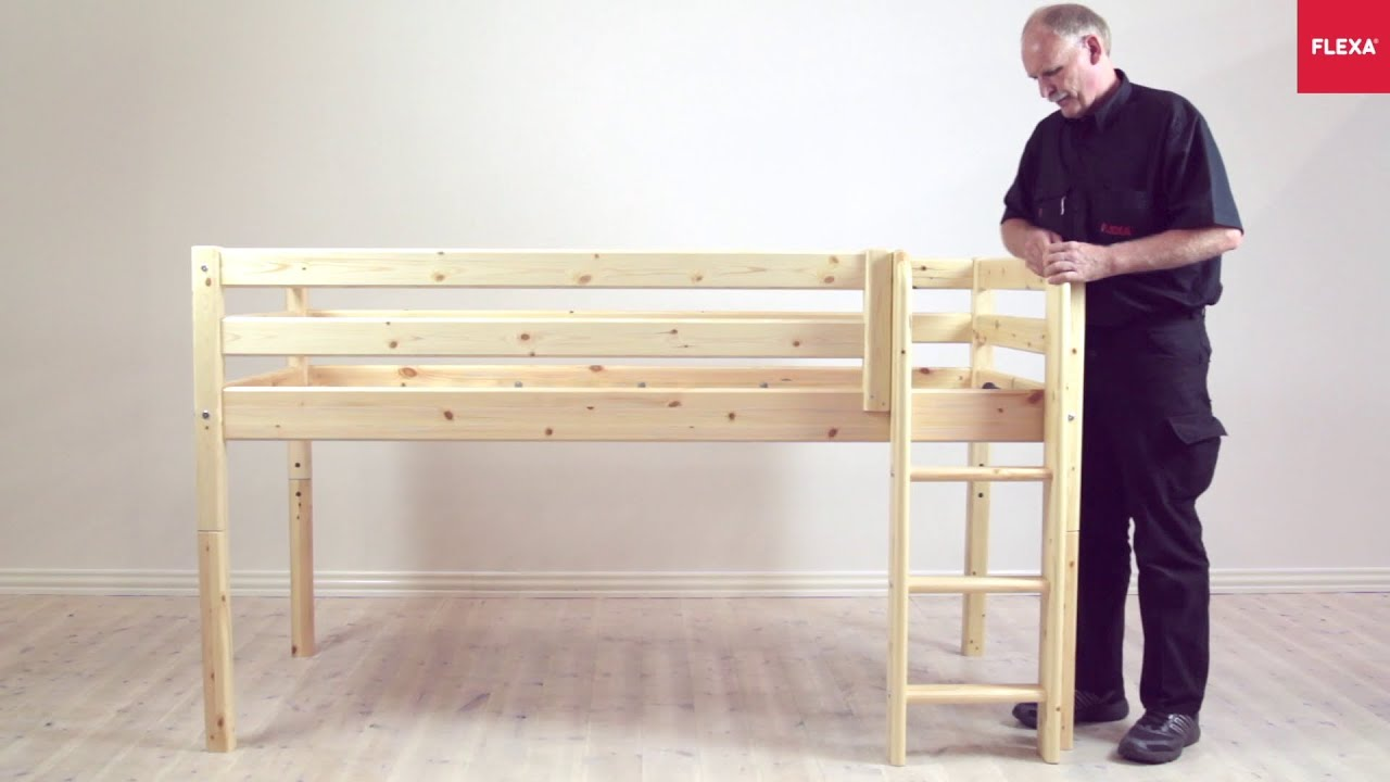 Flexa Classic Mid High Bed Straight Ladder Assembly