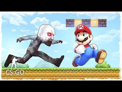 МАРИО VS ЗОМБИ МАНЬЯК В CS:GO!!! (DEATHRUN В КС:ГО)