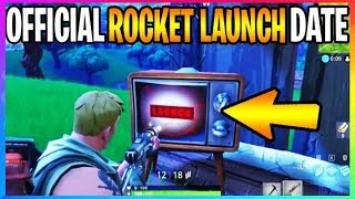 *NEW* Fortnite: OFFICIAL ROCKET LAUNCH DATE! Season 4 Ends! (Fortnite Battle Royale Leaks)