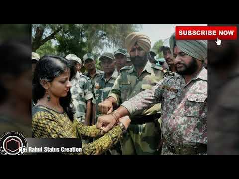 2018 New Status Indian Army Celebrate Raksha Bandhan special  ||Ate hai ek hi saal me ||