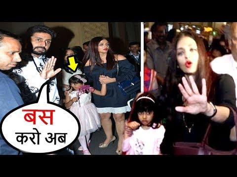 Abhishek Bachchan Lashes Out As Paparazzi Harass Aishwarya Rai & Daughter Aradhya On Birthday