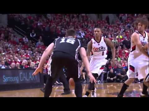 NBA, playoff 2014, Spurs vs. Trail Blazers, Round 2, Game 4, Move 45, Aron Baynes, dirty
