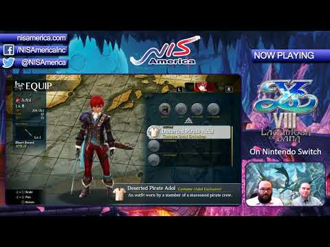 An Hour Of Ys VIII Switch Footage