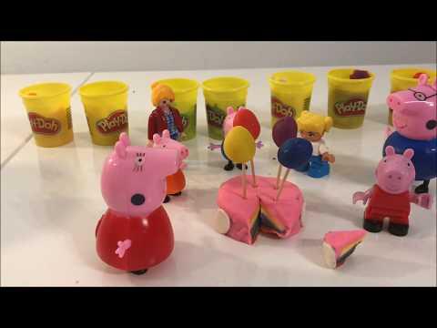 Bajka Urodziny Świnka Peppa. Nauka Kolorów Po Angielsku. Play Mobil. Play Doh.