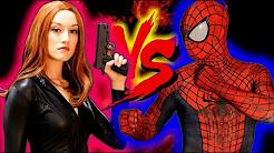 Spiderman kiss black widow
