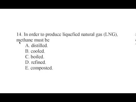 Alternative Energy Exam Q 14