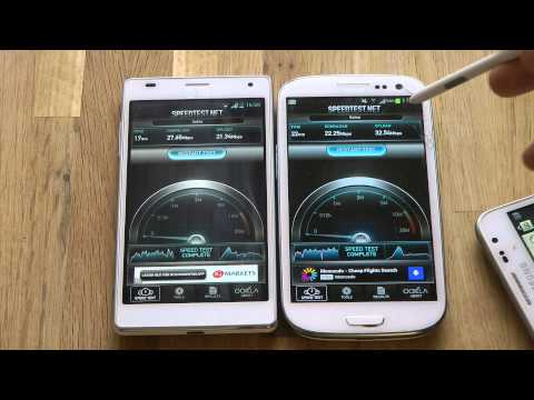 Samsung Galaxy S3 vs. LG Optimus 4X HD - Internet Speed Test