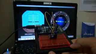 Artificial Horizon and Compass Using Arduino-Processing-MPU6050