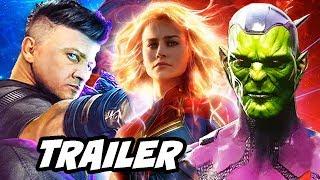 Captain Marvel Trailer - Avengers 4 Post Credit Scene Theory