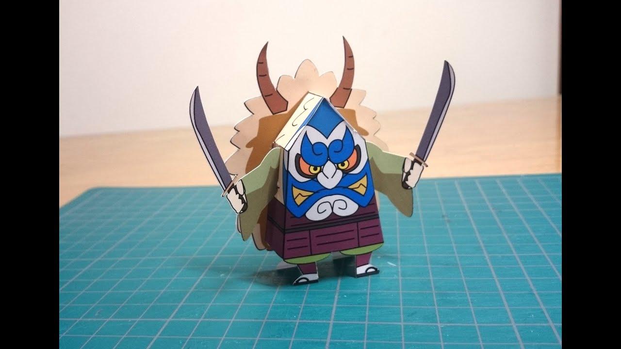 すべての折り紙 折り紙 鬼 : 妖怪ウォッチ】 なまはげ ...