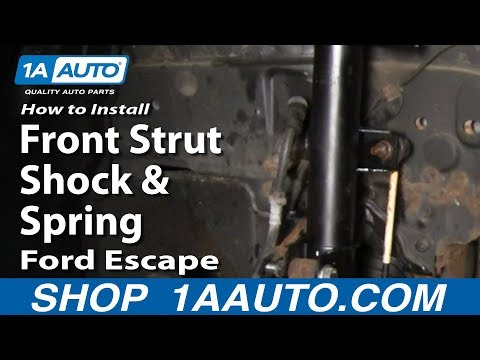 How to Install Replace Front Strut Shock & Spring Ford Escape Mercury Mariner 01-11 1AAuto.com
