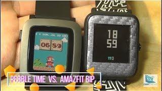 Comparison: Amazfit Bip vs. Pebble Time Smartwatch [2018]