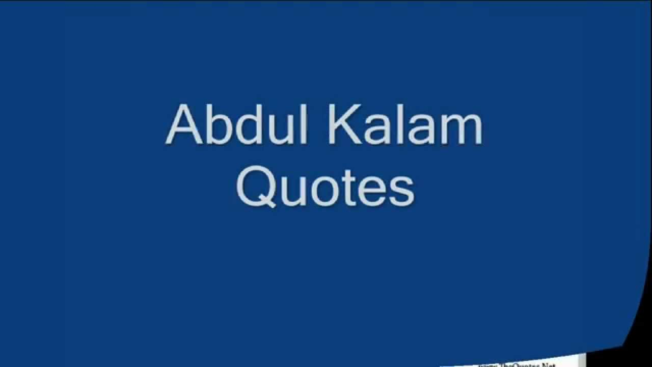 abdul kalam quotes part 2 youtube