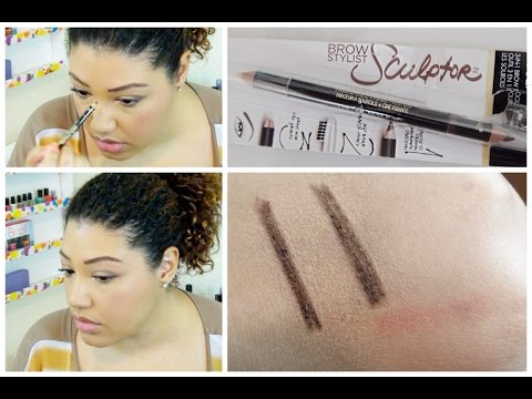 L'Oreal Brow Stylist Sculptor Review & Demo   Brow Wiz Dupe?   BeautyThroughBri
