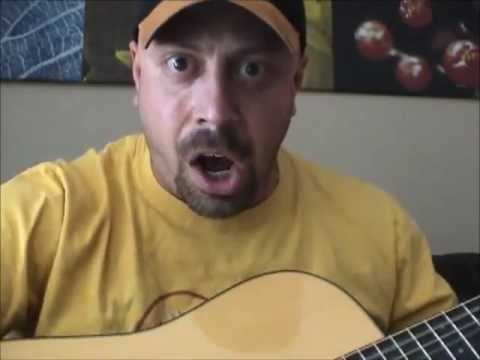 Handsome Bald Man Demonstrates Acoustic Guitar Therapy Unashamedly