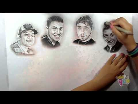 RetratoSpeed de WEREVERTUMORRO CREW (*paunegretemarin*Retrato a lápiz*)