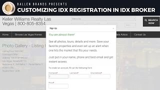 Lead Registration Settings in IDX Broker