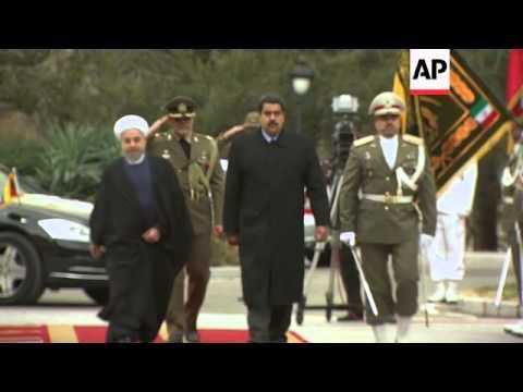 Venezuelan president Maduro visits, meets Rouhani